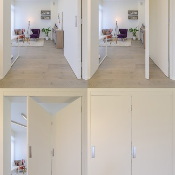 Galima atskirti zonas su durimis-pertvara.