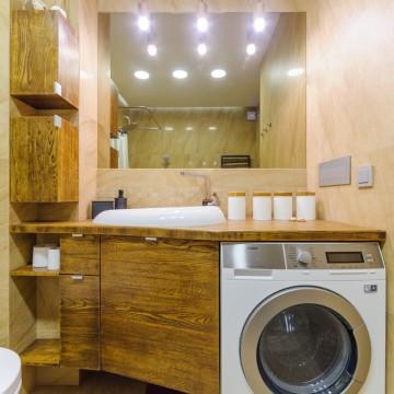 Vonios kambarys. Sendinto ąžuolo baldai